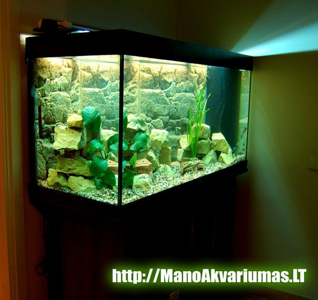 300 litru naujo akvariumo instaliacija